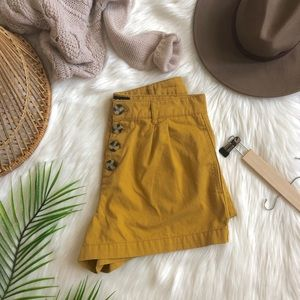 UO BDG Nigel Mustard Yellow High Rise Shorts 29
